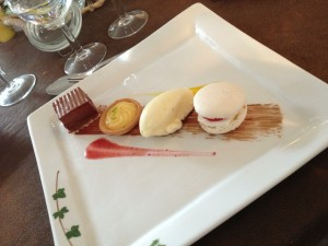 The macaroon was the best - a raspberry filling!