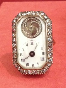 This watch is only abut an inch tall. Remember, it was made about 300 years ago with only hand tools.