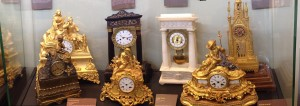 Typical Fench clocks made in Paris but have movements made in Saint Nicholas d'Aliermont.