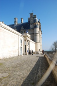 This is the imposing front of the Chateau.