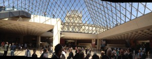 The entry of the Louvre is both a nightmare and a awesome.