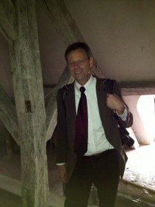 Here I am up on the attic of Marie Antoinette's residence. You can see that it was not a place that visitors usually go.