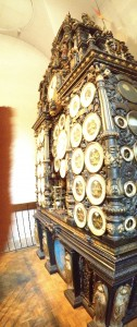 This picture makes the clock look bent over but that is because I had to use the panorama function and it distorts things.