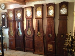 Here are some of the Comtoise clocks.