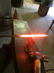 Here I am cutting off a spur after creating a sharp point in the end.