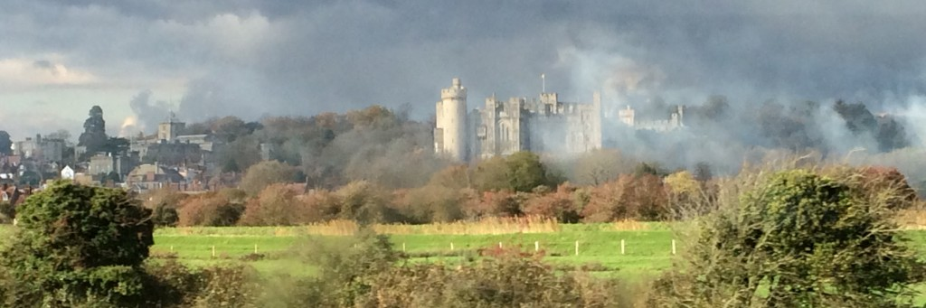 Arundel Castle - looks like the battles are still raging.