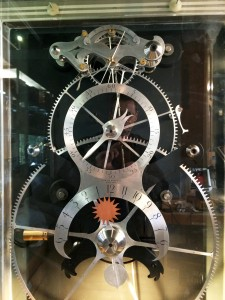 Martin Burgess's clock incorporating Harrison's design principles.