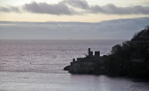 Dartmouth castle from our B&B.