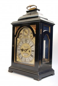 A nice bracket clock from the early 1700s.  These old clocks have been worked on many times.