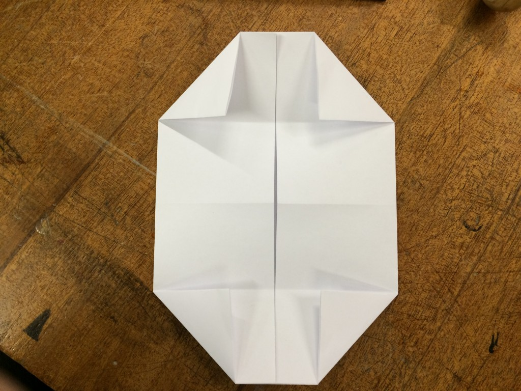 Here's what it should look like with all four corners folded.