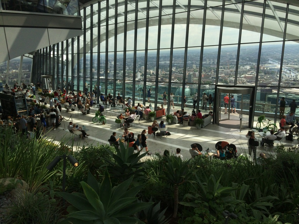 Unbelievable views from the Skygarden atop the Walkie-talkie building.